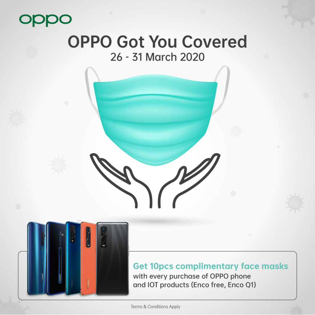 Oppo malaysia free face mask