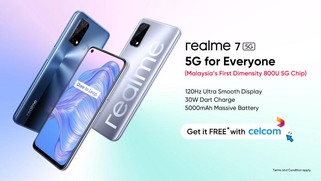 Dapatkan realme 7 5G secara percuma melalui pelan Celcom MEGA 5