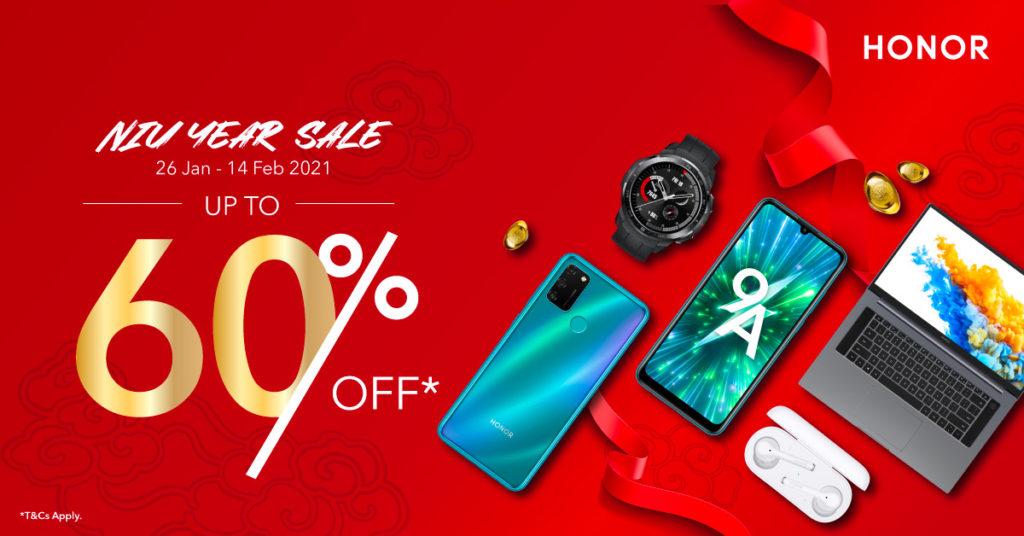Honor Malaysia umumkan promosi Niu Year Sale dengan diskaun hebat sehingga 60% 5