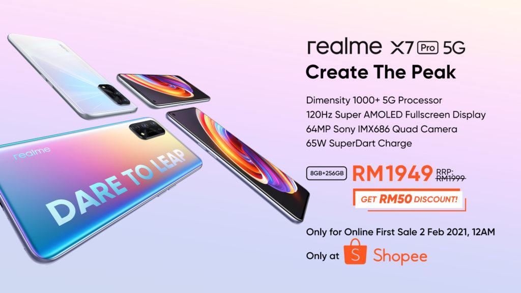 realme X7 Pro 5G kini rasmi di Malaysia - hanya RM 1949 pada 2 Februari 2020 di Shopee 3