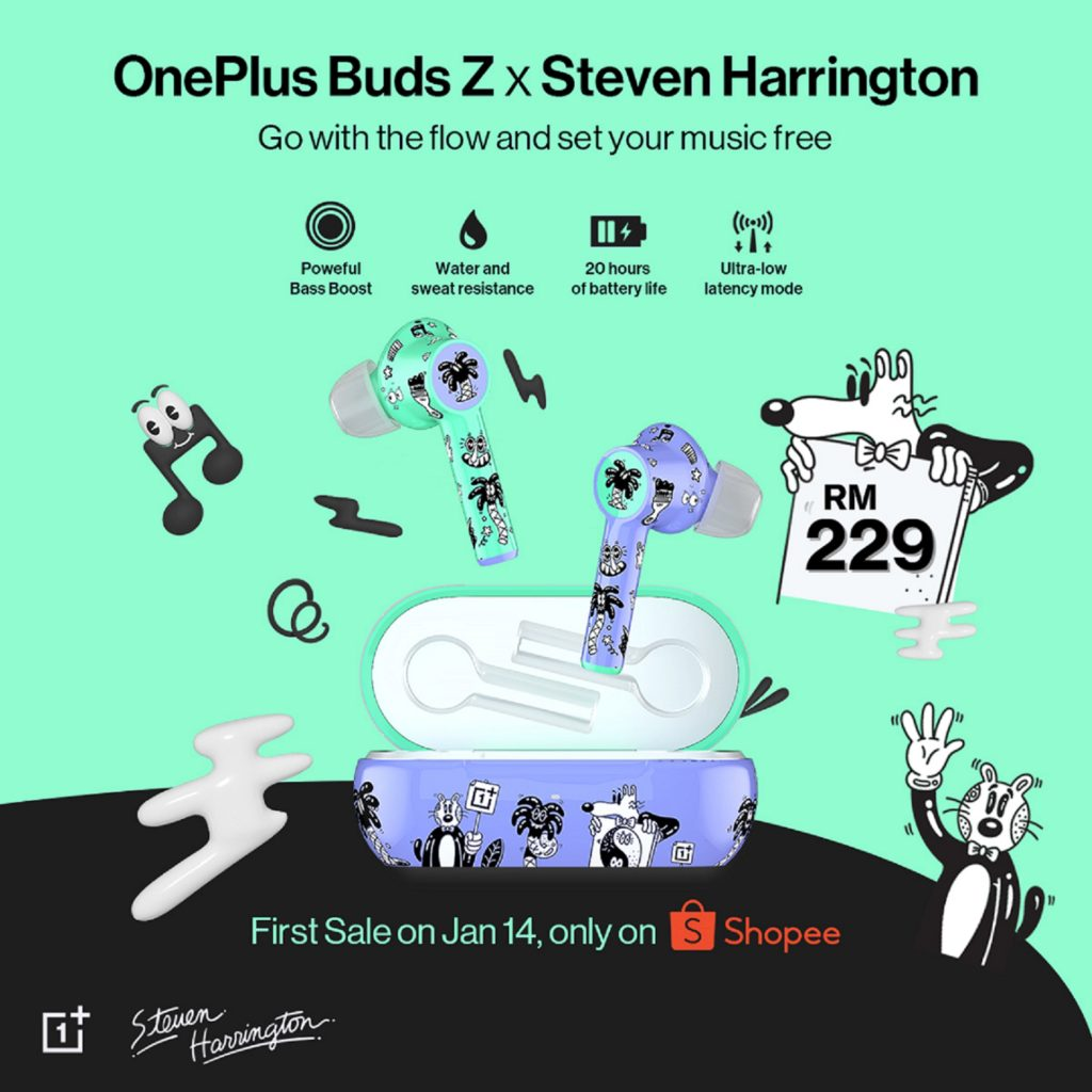 OnePlus Buds Z Edisi Steven Harrington Akan Tawarkan di Shopee Mulai 14 Januari Pada Harga RM 229 Sahaja 3