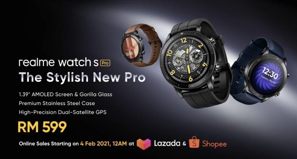realme Watch S Pro akan mula ditawarkan di Malaysia pada 30 Januari ini - RM 599 9