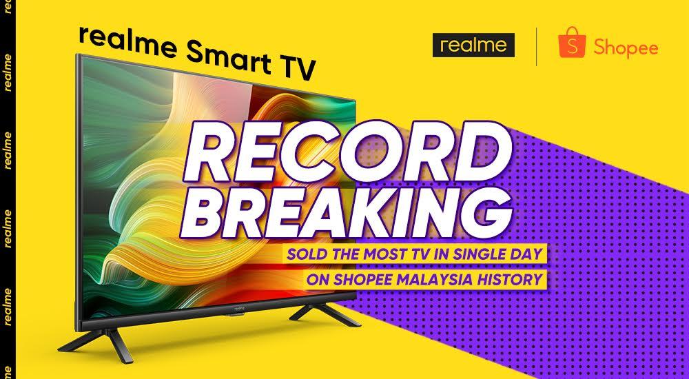 realme Smart TV dinobatkan TV paling banyak terjual dalam masa 24 jam di Shopee 5