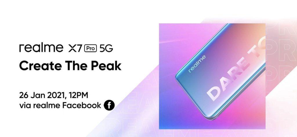 realme X7 Pro 5G akan tiba di Malaysia 26 Januari ini - Skrin AMOLED 120Hz, Dimensity 1000+ dan 65W SuperDart Charge 5