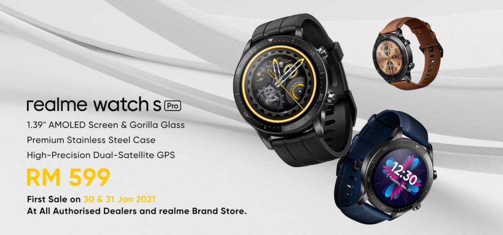 realme Watch S Pro akan mula ditawarkan di Malaysia pada 30 Januari ini - RM 599 7