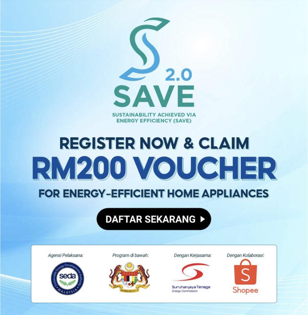 Program Save 2.0 - cara dapatkan e-rebat bernilai RM 200 untuk pembelian peti sejuk atau penyaman udara cekap tenaga 5