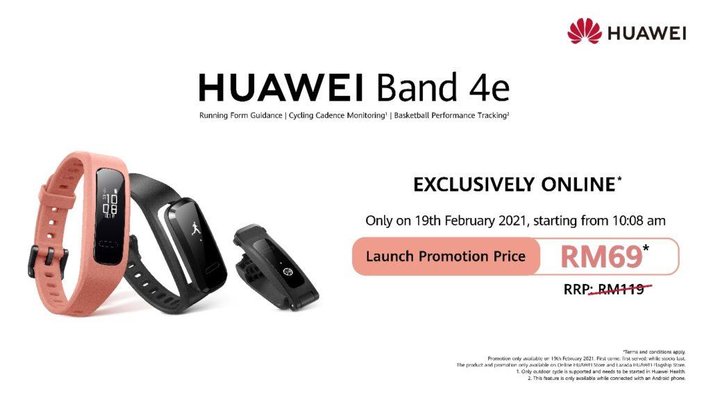 Huawei Band 4e akan mula ditawarkan di Malaysia pada 19 Februari ini - RM 119 3