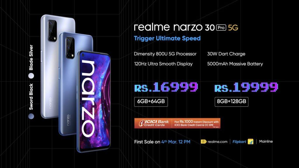realme Narzo 30 Pro 5G kini rasmi pada harga serendah RM 948 - Narzo 30A turut dilancarkan 10