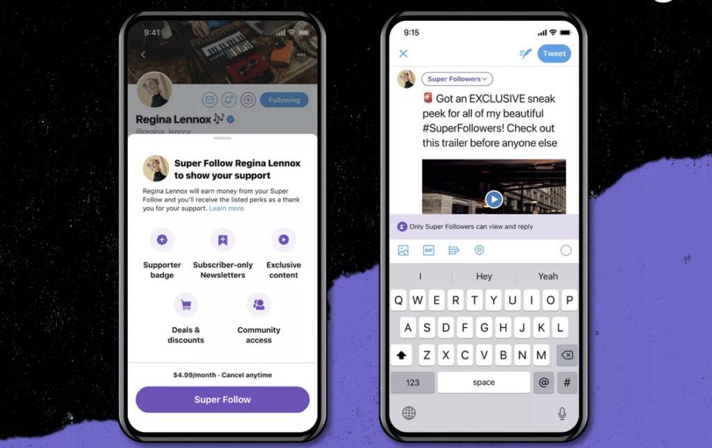 Twitter umumkan ciri langganan bulanan Super Follows & kumpulan Communities 5