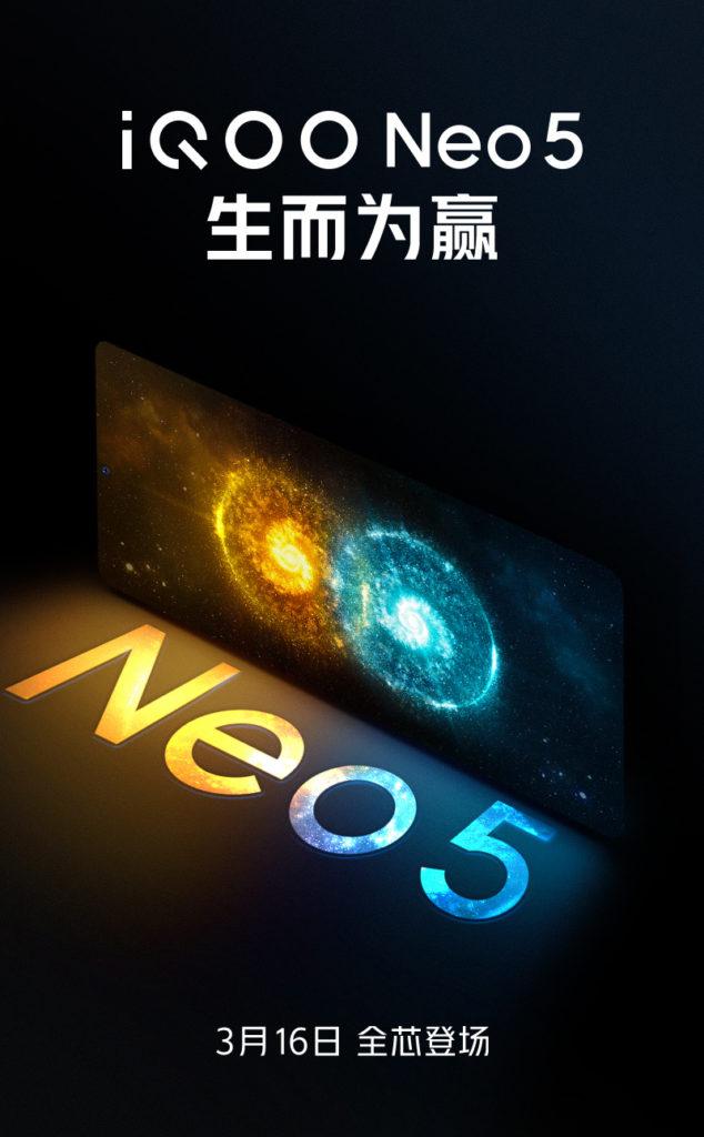 Vivo iQOO Neo5 akan dilancarkan pada 16 Mac 2020 - cip Snapdragon 870 3