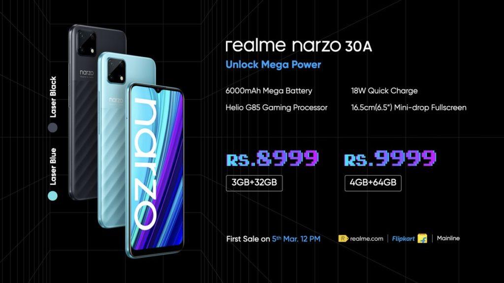 realme Narzo 30 Pro 5G kini rasmi pada harga serendah RM 948 - Narzo 30A turut dilancarkan 12
