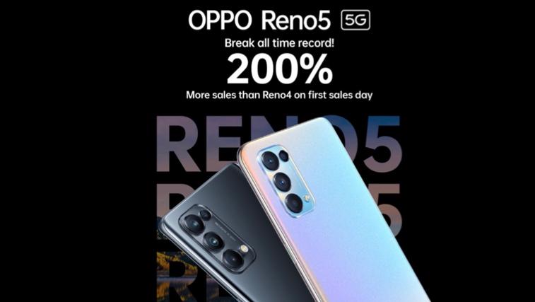 Jualan Siri Oppo Reno5 meningkat 200% berbanding Reno4 3