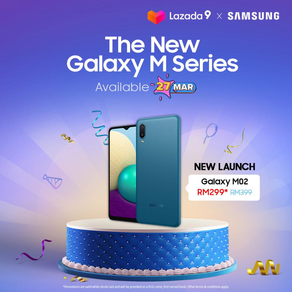 Samsung Galaxy M02 kini rasmi di Malaysia - Dapatkan di Lazada pada harga RM 299 esok 3