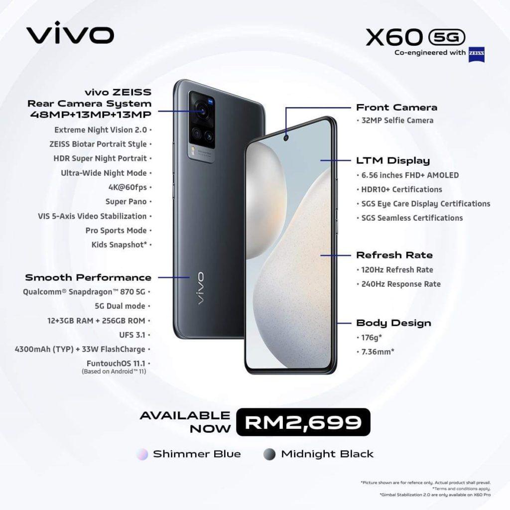 Vivo X60 Pro dan Vivo X60 kini rasmi di Malaysia dengan Snapdragon 870 dan 15GB RAM 21