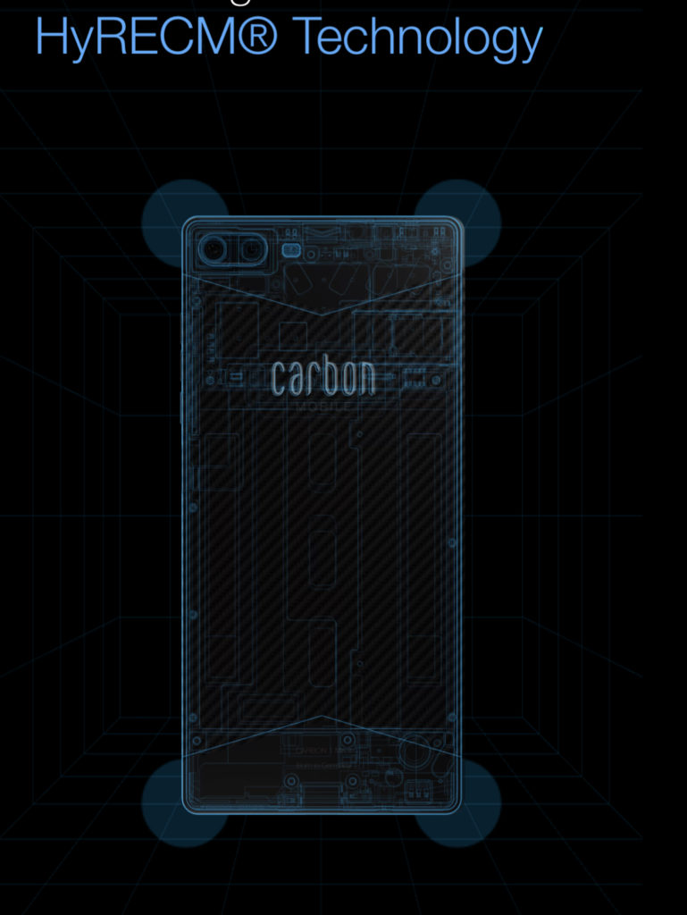 Carbon 1 MK II - telefon pintar pertama didunia dengan pengunaan gentian karbon 12