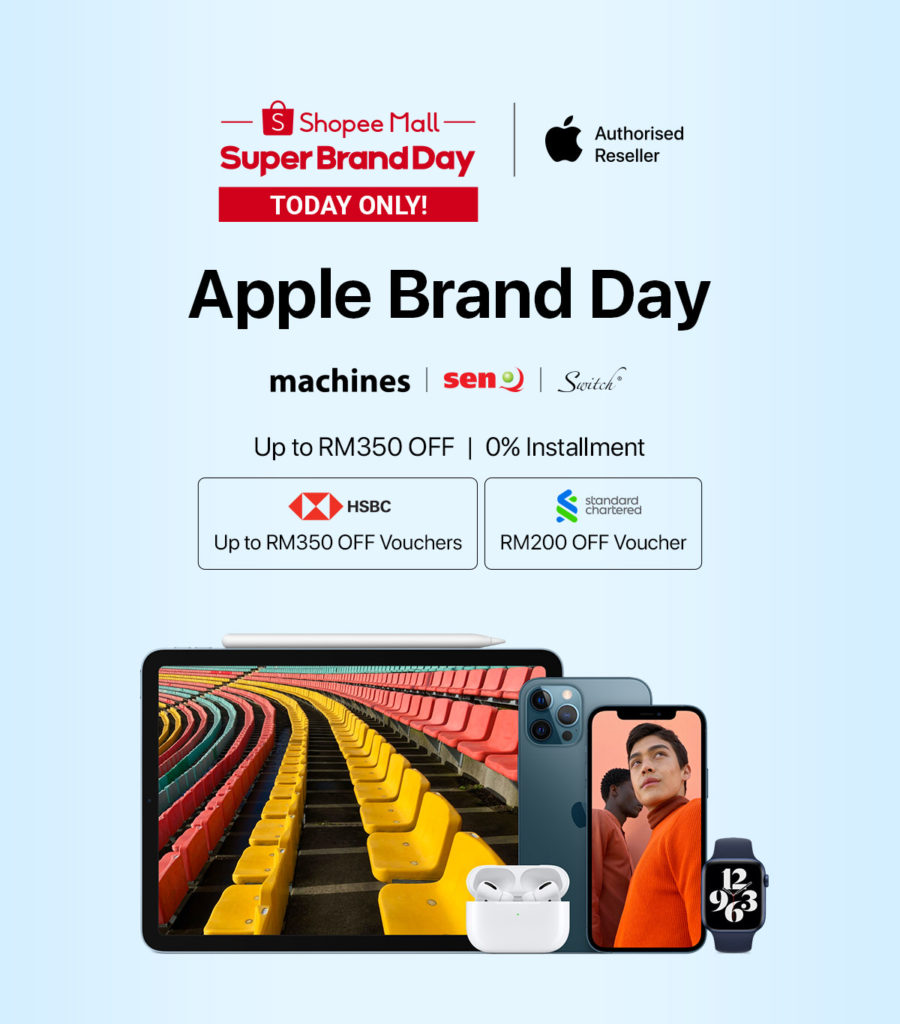 Apple Super Brand Day Akan Berlangsung di Shopee Pada 1 & 2 April ini - diskaun sehingga RM 350 bagi model iPhone 12 yang terpilih 7