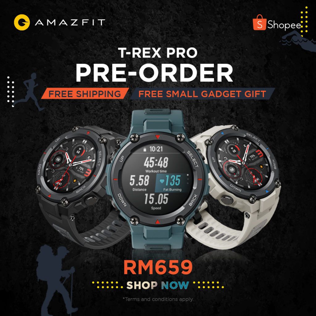 Jam Pintar Lasak Amazfit T-Rex Pro kini rasmi di Malaysia pada harga RM 659 12