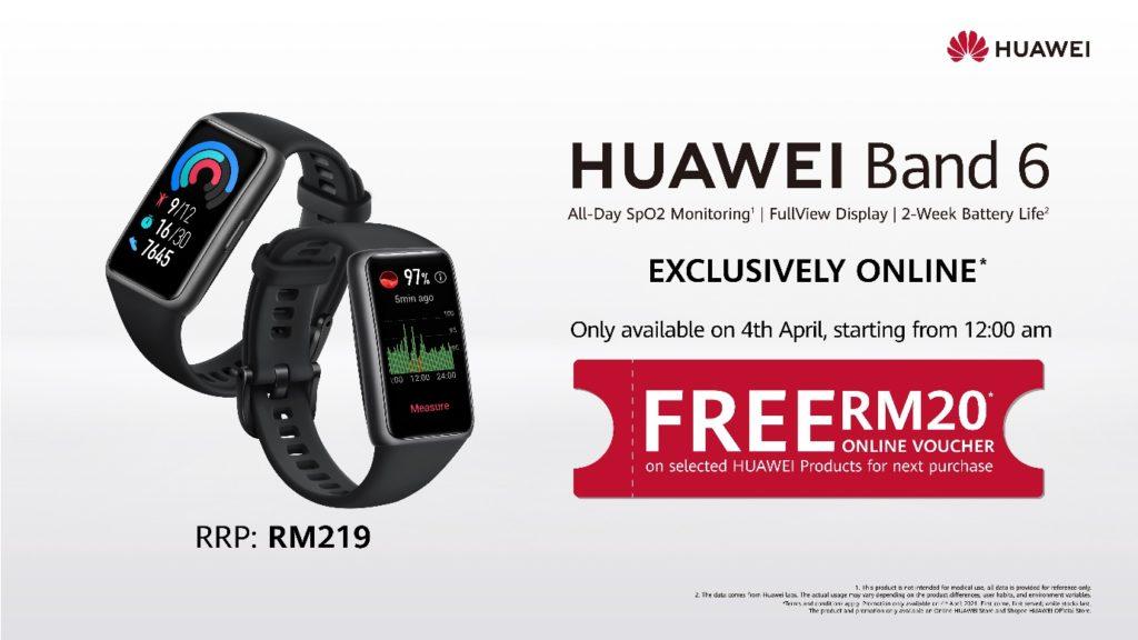 HUAWEI Band 6 akan dilancarkan di Malaysia pada 4 April ini - hanya RM 219 3