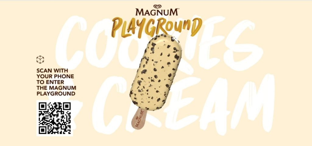 Raikan Keriangan Magnum Cookies and Cream melalui Pengalaman AR yang pertama oleh Magnum 3