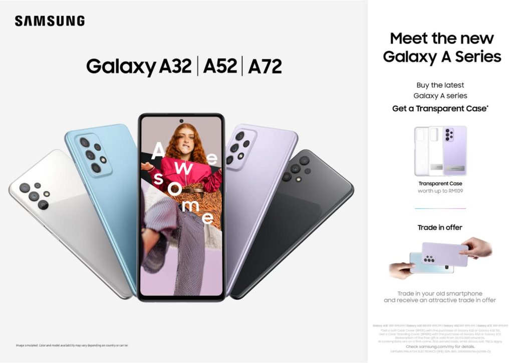 Harga Samsung Galaxy A72, Galaxy A52 dan Galaxy A32 di Malaysia kini diumumkan - dari RM 1,099 sahaja 7