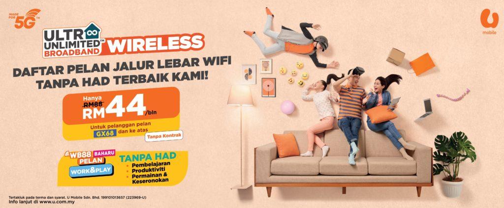UMobile lancarkan pelan Ultra Unlimited Wireless Broadband serendah RM 48 untuk keperluan pembelajaran dan pekerjaan digital 5