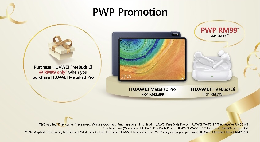 Huawei tawar rebat sehingga RM 168 bagi pembelian Watch Fit & FreeBuds Pro 6