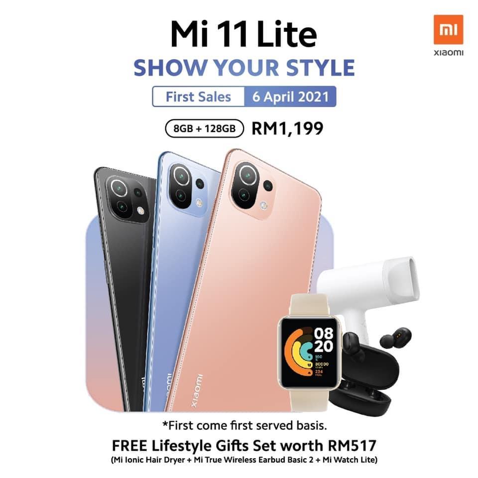 Xiaomi Mi 11 Lite akan ditawarkan di Malaysia 6 April ini pada harga RM 1,199 - percuma Lifestyle gift set bernilai RM 517 9
