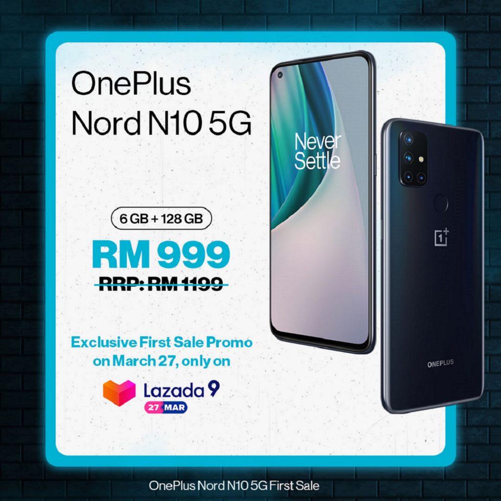 OnePlus Nord N10 5G kini rasmi di Malaysia - hanya RM 999 di Lazada pada 27 Mac ini 5