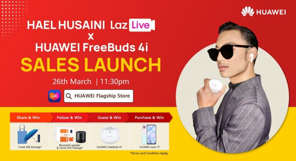 Saksikan Hael Husaini di Siaran Langsung Penjualan Huawei FreeBuds 4i di Lazada Malam ini 3