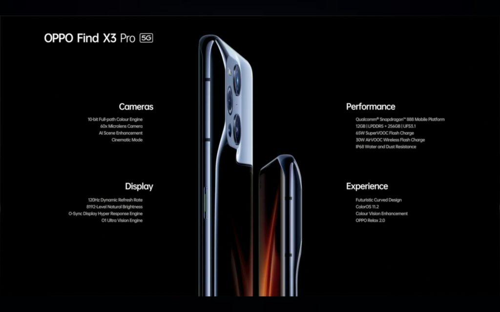 Oppo Find X3 Pro 5G kini rasmi - Snapdragon 888 dan Skrin OLED QHD+ 120Hz 26