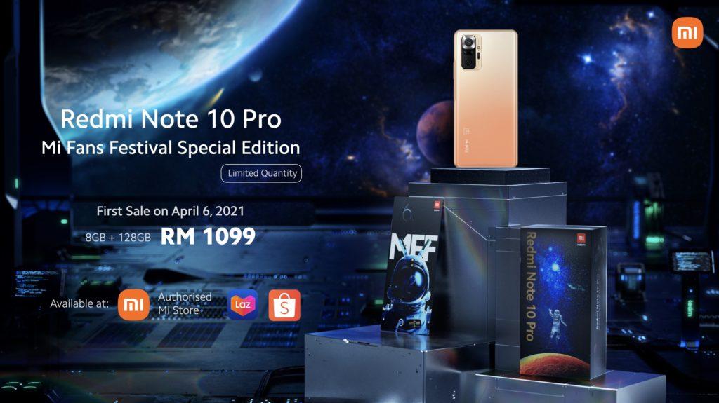 Xiaomi Redmi Note 10 Pro Edisi Terhad Mi Fans Festival 2021 kini ditawarkan pada harga RM 1,099 5