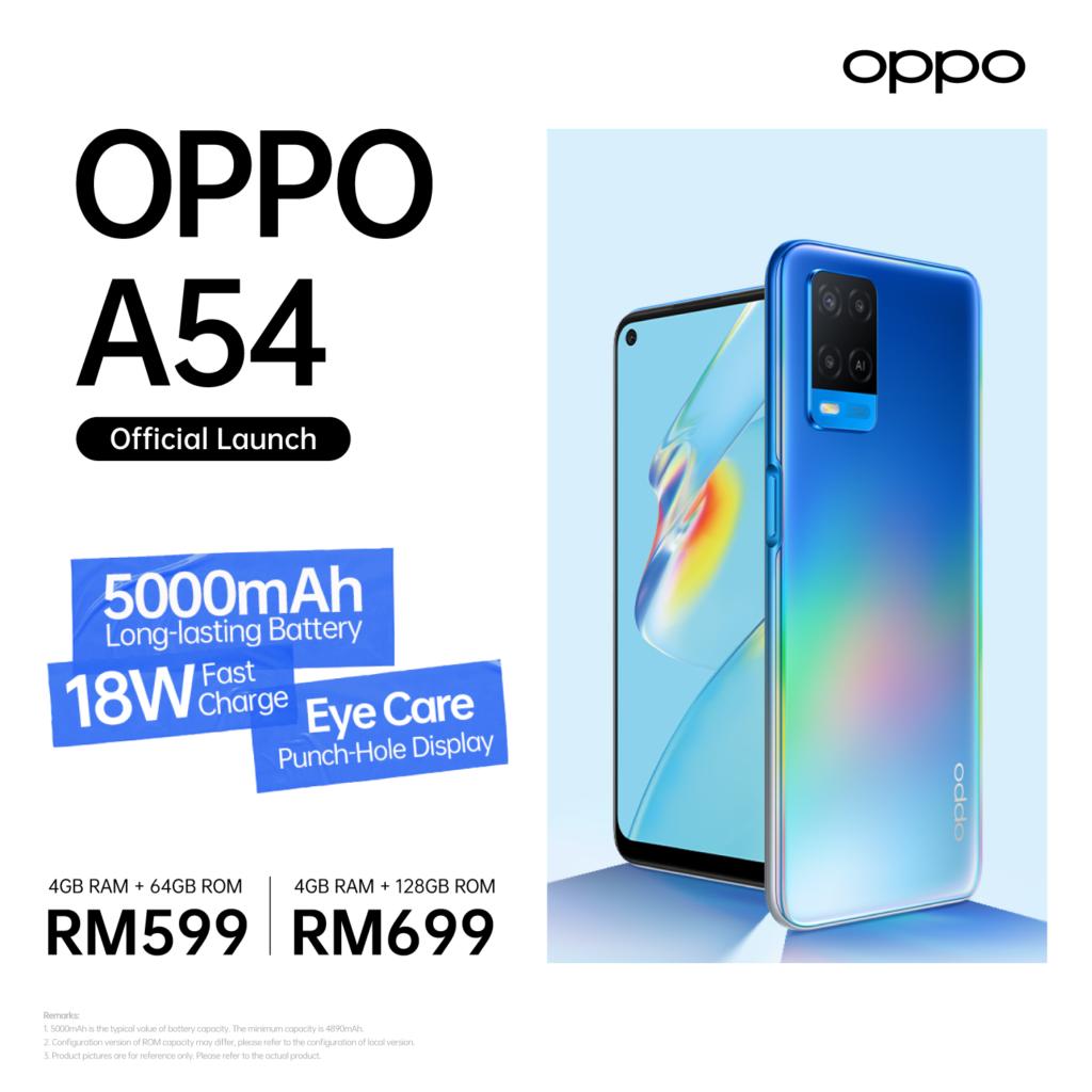 Oppo A54 kini ditawarkan di Malaysia pada harga dari RM 599 sahaja 9