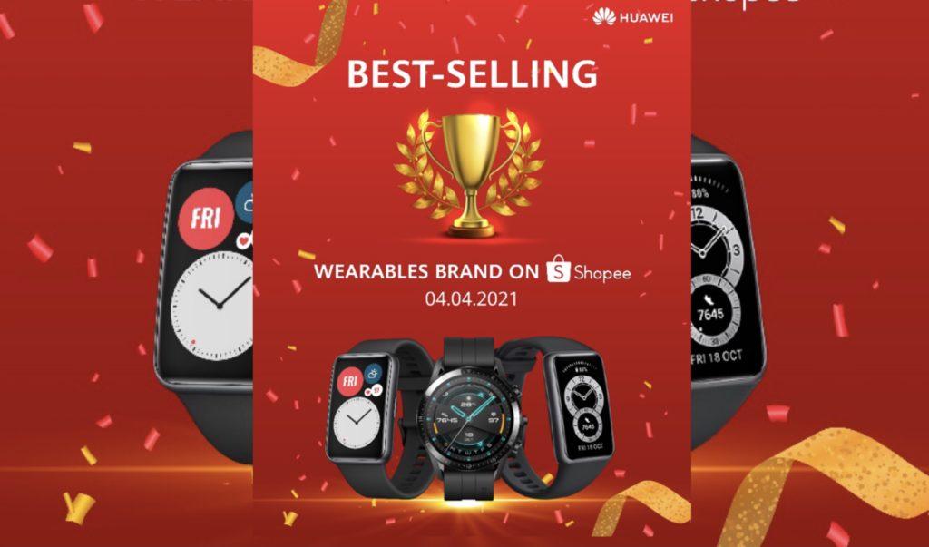 HUAWEI dinobatkan sebagai jenama 'Wearables' terlaris di Shopee 4.4 Mega Sales Day 5