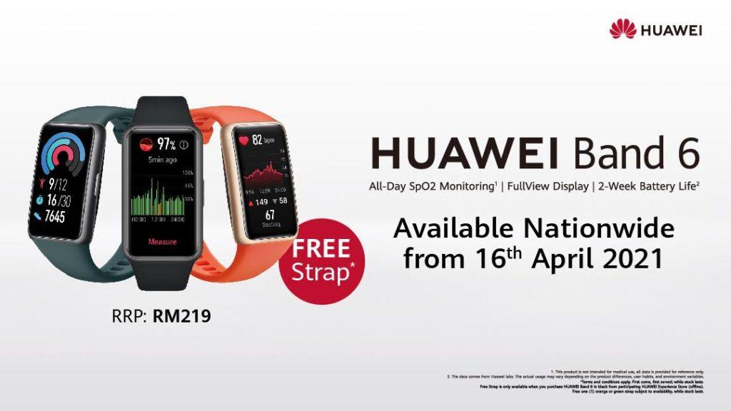 HUAWEI Band 6 mula ditawarkan di semua stor HUAWEI Experience - percuma satu tali jam tambahan 3
