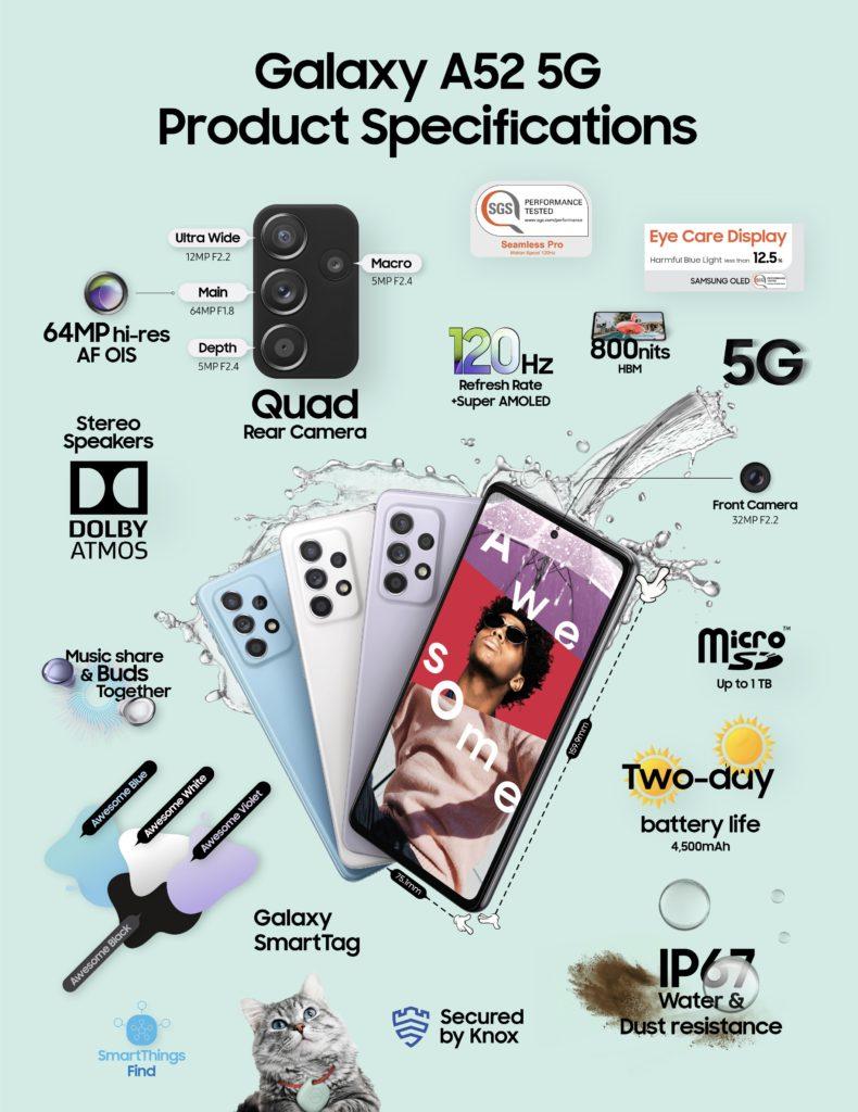 Samsung Galaxy A52 5G kini di Malaysia pada harga RM 1,899 10