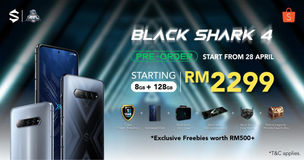Black Shark 4 kini di Malaysia dari RM 2,299 sahaja - pra-tempahan mulai 28 April 2021 11