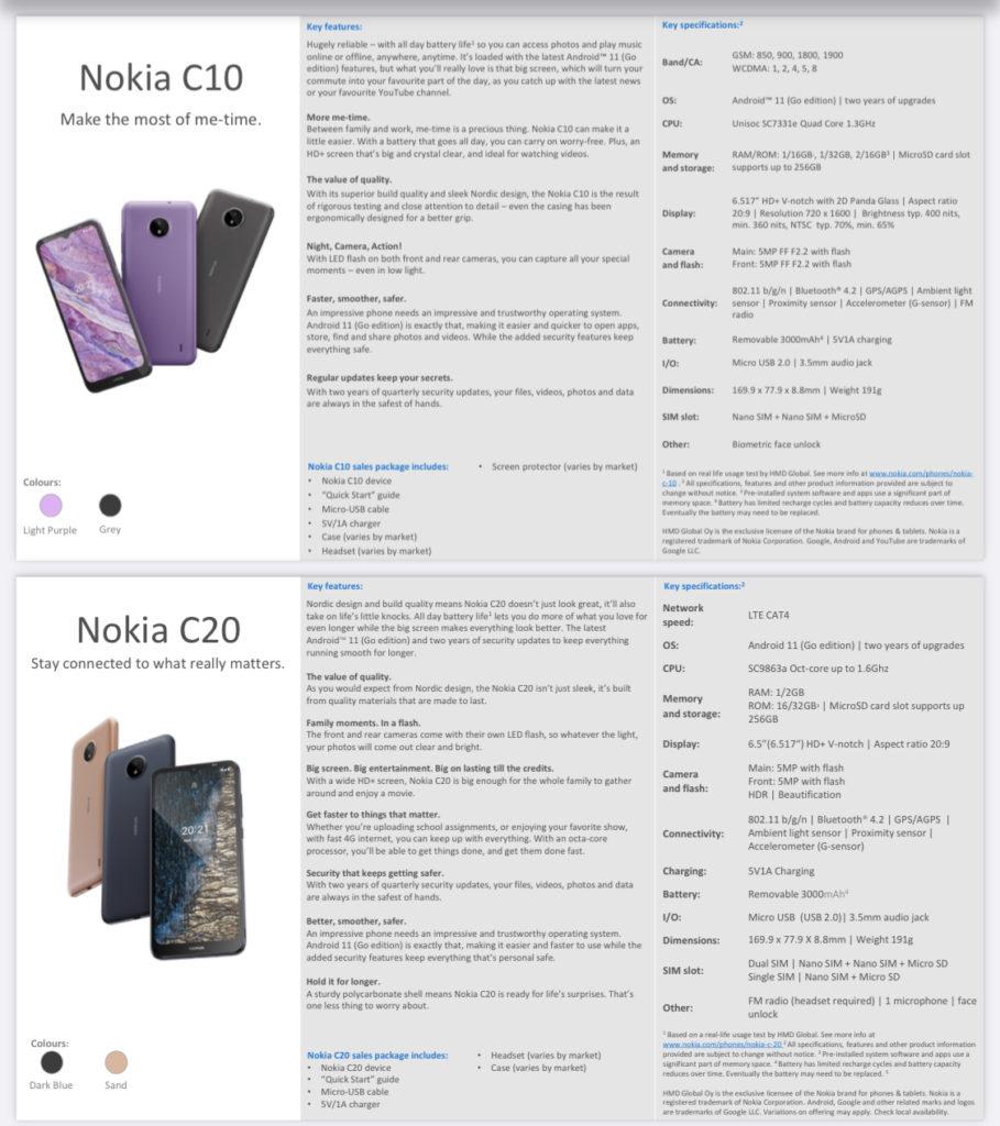 Nokia G20 dan Nokia G10 kini rasmi bersama-sama Nokia C20 dan Nokia C10 9