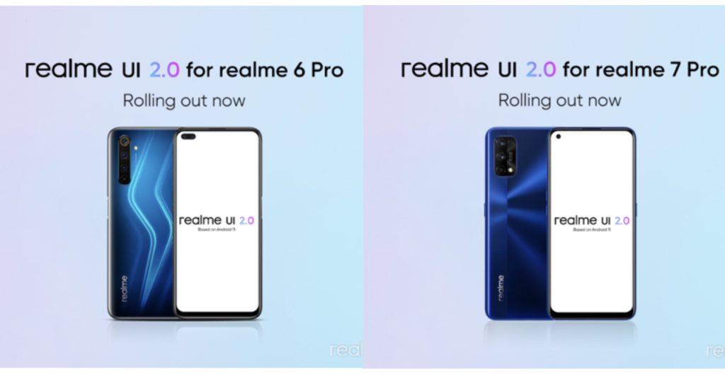 Kemaskini stabil realme UI 2.0 berasaskan Android 11 mula ditawarkan kepada realme 6 Pro dan realme 7 Pro 3