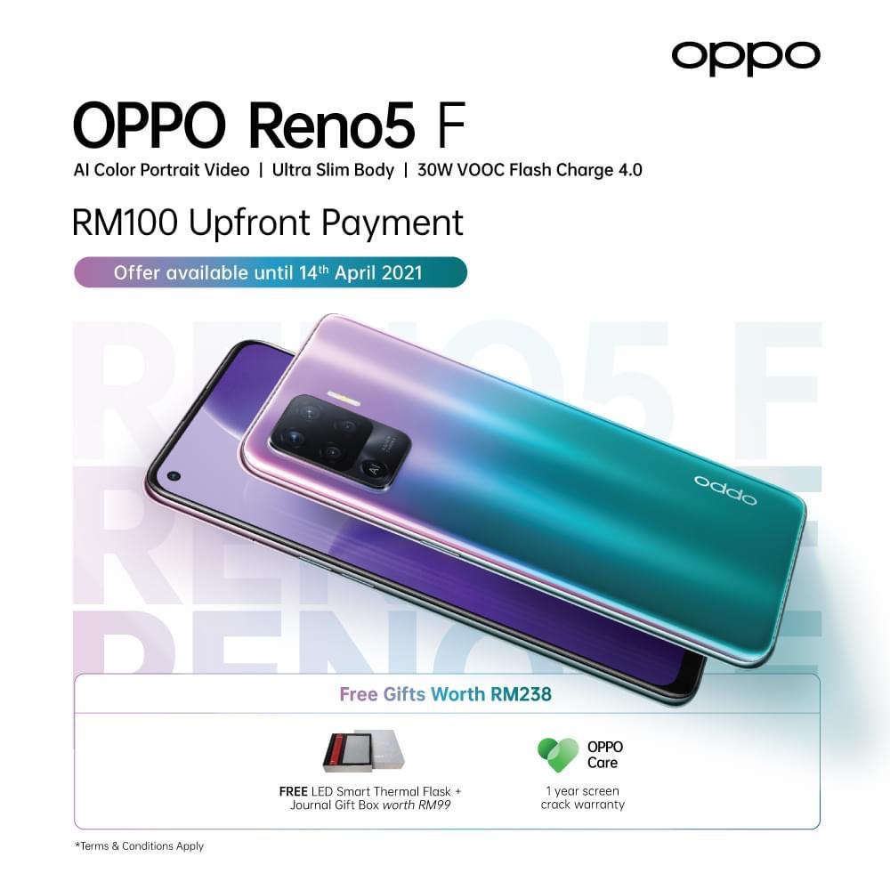 Oppo Reno5f akan dilancarkan secara rasmi di Malaysia minggu hadapan 3
