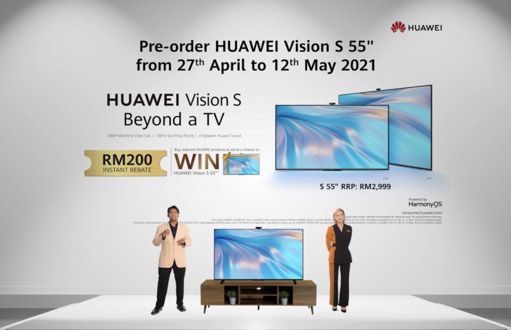 Televisyen HUAWEI Vision S kini di Malaysia didalam dua saiz pada harga dari RM 2,999 sahaja 15