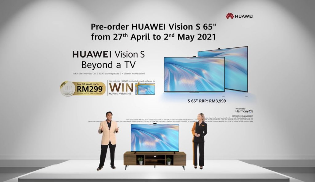 Televisyen HUAWEI Vision S kini di Malaysia didalam dua saiz pada harga dari RM 2,999 sahaja 16