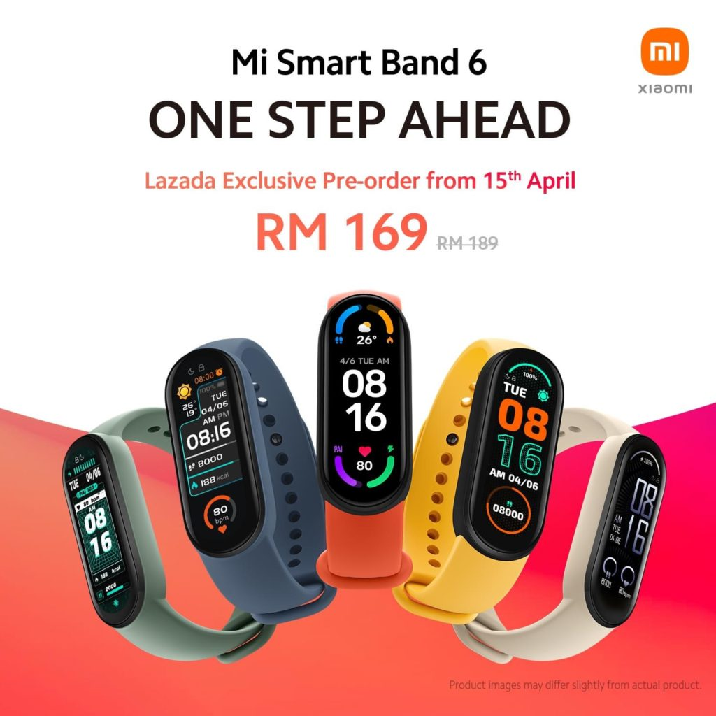 Xiaomi Mi Band 6 akan ditawarkan di Malaysia mulai 15 April ini pada harga RM 189 18