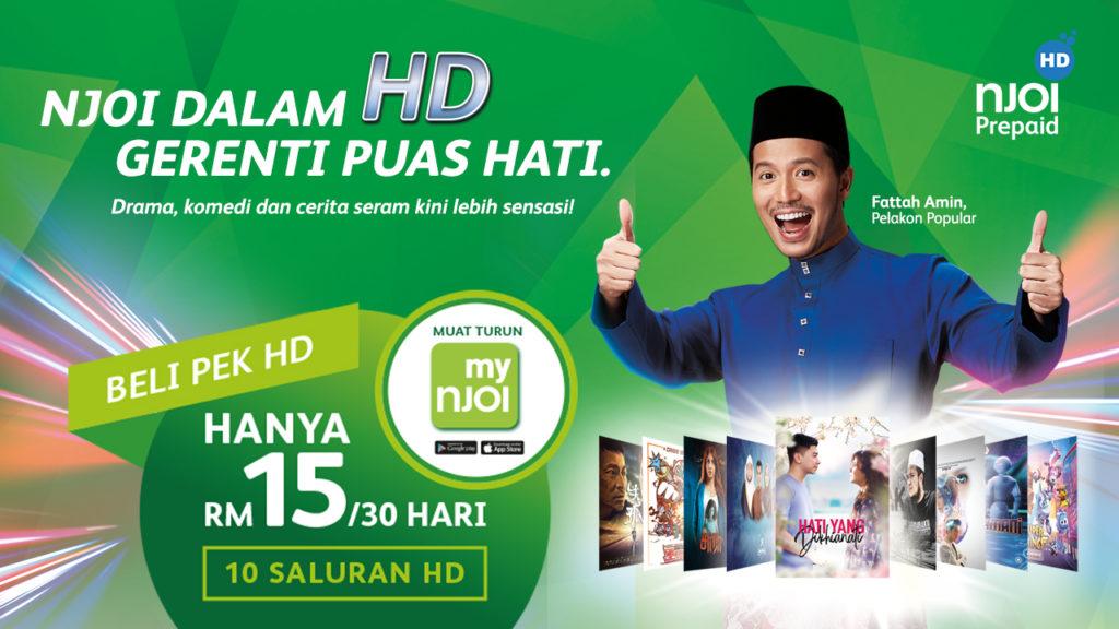 Pek NJOI HD dengan 10 saluran HD kini ditawarkan pada harga RM 15 sebulan 5