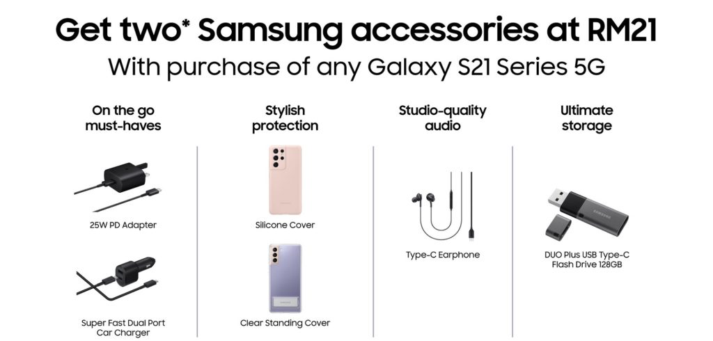 Beli telefon pintar siri Samsung Galaxy S21 dan dapatkan dua aksesori Samsung pada harga RM 21 sahaja 6