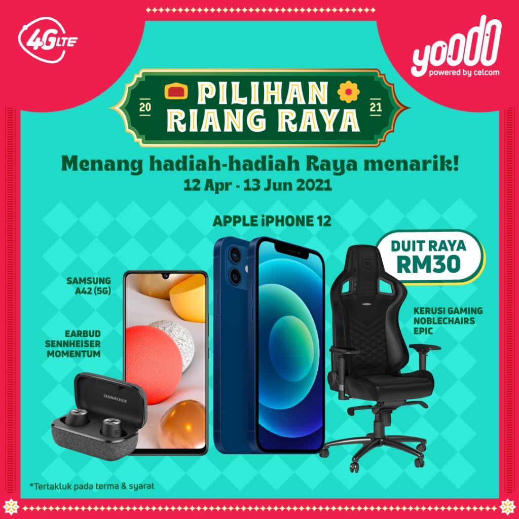 Kempen Riang Ria Raya bersama Yoodo menawarkan Hadiah dan Kredit Bernilai Lebih RM500,000 3