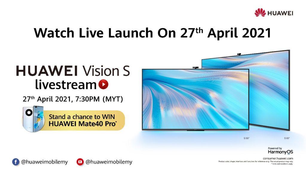 Televisyen HUAWEI Vision S Series akan dilancarkan di Malaysia pada 27 April ini 3