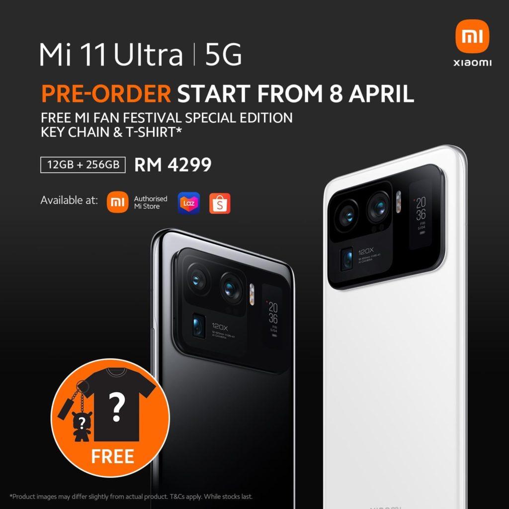 Xiaomi Mi 11 Ultra akan dibuka untuk pra-tempahan mulai 8 April ini pada harga RM 4,299 21