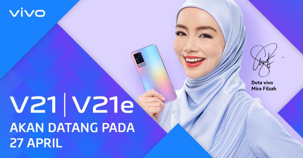 Vivo V21 dan Vivo V21e akan dilancarkan pada 27 April ini 5