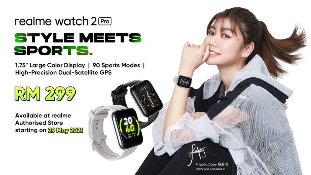 realme Watch 2 Pro - Skrin Bersaiz 1.75 -inci , Dual-GPS dan 90 Mod Sukan kini di Malaysia - Hanya harga RM299 sempena jualan pertama pada 29 Mei ini 13