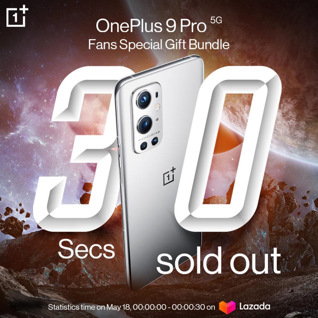 OnePlus 9 Pro Fans Special Gift Bundle bernilai RM 4,299 habis terjual dalam 30 saat sahaja 3